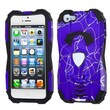 Insten® Car Pattern Hybrid Protector Cover F/iPhone 5/5S, d Lines Purple/Black
