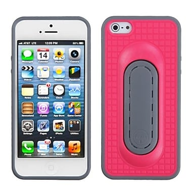 Insten® Protector Cover W/Snap Tail Stand F/iPhone 5/5S, Hot-Pink