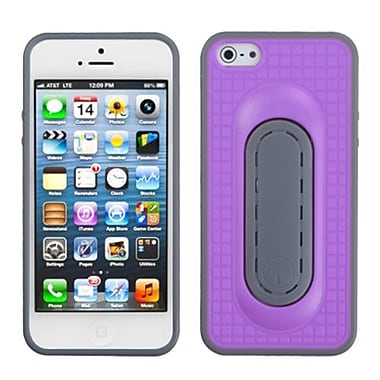 Insten® Protector Cover W/Snap Tail Stand F/iPhone 5/5S, Purple