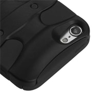 Insten® 3D Fishbone Hybrid Cover For iPod Touch 5th Gen, Black/Black