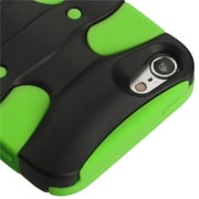 Insten® 3D Fishbone Hybrid Cover For iPod Touch 5th Gen, Black/Electric Green