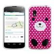 Insten® Cover Case For LG Nexus 4 E960, White Pink Dog Love