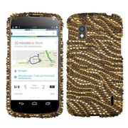 Insten® Diamante Protector Case For Google Nexus 4, Tiger