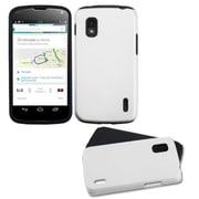 Insten® Hybrid Cover Case For LG Nexus 4 E960, White Black Fusion