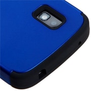 Insten® TUFF Hybrid Phone Protector Case For LG E960 Nexus 4, Titanium Dark Blue/Black