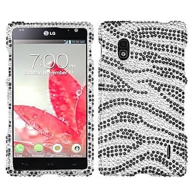 Insten® Diamante Protector Cover For LG E970 Optimus G, Black Zebra