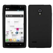 Insten® Silicone Protector Case For LG P769 Optimus L9, Black