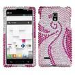 Insten® Hard Cover Case For LG P769 Optimus L9, Pink/Phoenix Tail Diamond