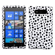 Insten® Phone Cover Case For Nokia Lumia 820, Black Mixed Polka Dots
