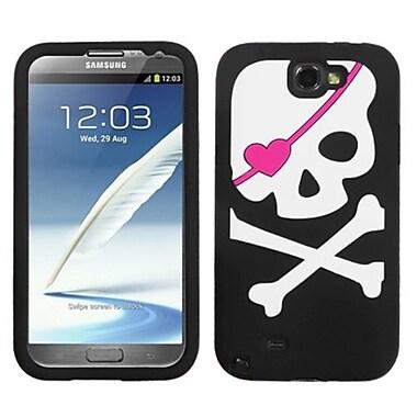 Insten® Pastel Skin Cover For Samsung Galaxy Note II, Big Skull/Black