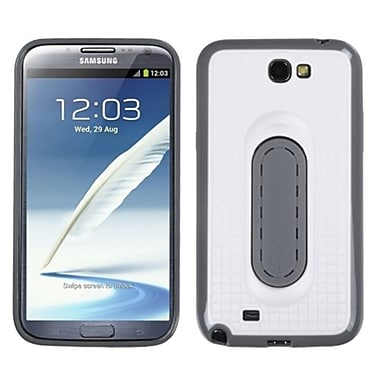 Insten® Stand Protector Cover For Samsung Galaxy Note II (T889/I605), White Snap Tail