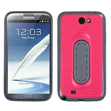 Insten® Stand Protector Cover For Samsung Galaxy Note II (T889/I605), Hot-Pink Snap Tail