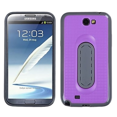 Insten® Stand Protector Cover For Samsung Galaxy Note II (T889/I605), Purple Snap Tail