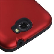Insten® TUFF Hybrid Protector Cover For Samsung Galaxy Note II, Titanium Red/Black