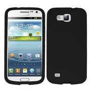 Insten® Solid Skin Cover For Samsung i9260 (Galaxy Premier), Black