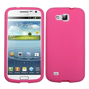 Insten® Solid Skin Cover For Samsung i9260 (Galaxy Premier), Hot-Pink