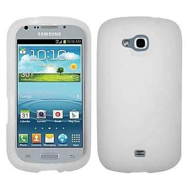 Insten® Solid Skin Case For Samsung R830 Galaxy Axiom, Translucent White