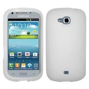Insten® Solid Skin Case For Samsung R830 Galaxy Axiom, Translucent White