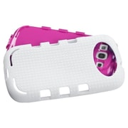 Insten® Hybrid TUFF eNUFF Phone Case For Samsung Galaxy SIII, Hot-Pink/White