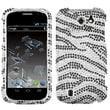 Insten® Diamante Protector Cover For ZTE N9500 Flash, Black Zebra