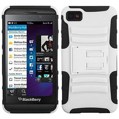 Insten® Advanced Armor Stand Protector Cover For BlackBerry Z10, White/Black