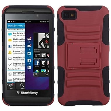 Insten® Advanced Armor Stand Protector Cover For BlackBerry Z10, Red/Black