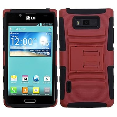 Insten® Advanced Armor Stand Protector Cover For LG US730 Splendor/730 Venice, Red/Black