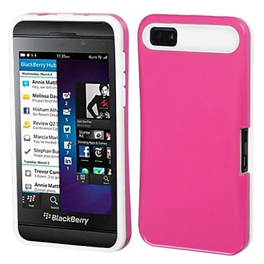 Insten® Card Wallet Back Protector Cover For BlackBerry Z10, Hot-Pink/White