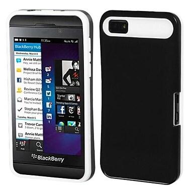 Insten® Card Wallet Back Protector Cover For BlackBerry Z10, Black/White