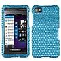 Insten® Diamante Protector Case For BlackBerry Z10, Blue/White