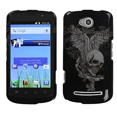 Insten® Protector Case For Coolpad 5860E Quattro 4G, Skull Wing