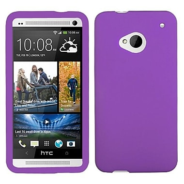 Insten® Skin Cover For HTC-One, Solid Electric Purple