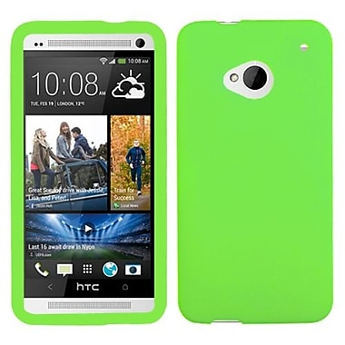 Insten® Skin Cover For HTC-One, Solid Electric Green