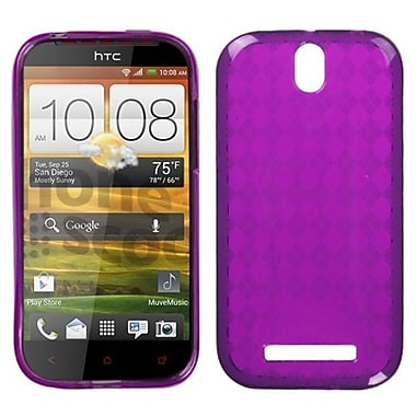 Insten® Argyle Candy Skin Cover For HTC-One SV, Hot-Pink Pane