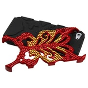 Insten® Butterflykiss Hybrid Phone Protector Cover W/Diamonds F/iPhone 5/5S, Solid Red/Black