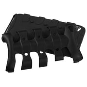 Insten® Ribcage Hybrid Protector Cover For iPod Touch 4th Gen, Black/Black