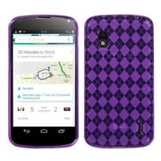 Insten® Argyle Candy Skin Cover For LG E960 Nexus 4, Purple
