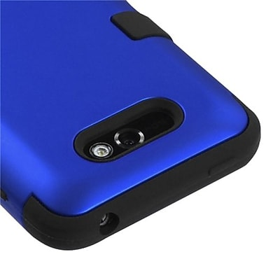 Insten® TUFF Hybrid Phone Protector Case For LG MS770 Motion 4G, Titanium Dark Blue/Black