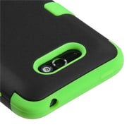 Insten® TUFF Hybrid Phone Protector Cover For LG MS770, Black/Electric Green