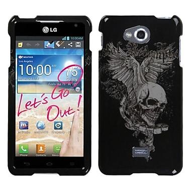 Insten® Protector Case For LG MS870 Spirit 4G, Skull Wing