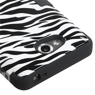 Insten® TUFF Hybrid Phone Protector Cover For LG MS870 Spirit 4G, Black Zebra