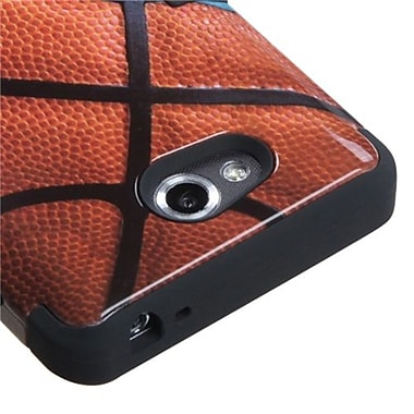 Insten® TUFF Hybrid Phone Protector Cover For LG MS870 Spirit 4G, Black Basketball