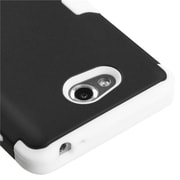 Insten® TUFF Hybrid Phone Protector Cover For LG MS870 Spirit 4G, Black/Solid White