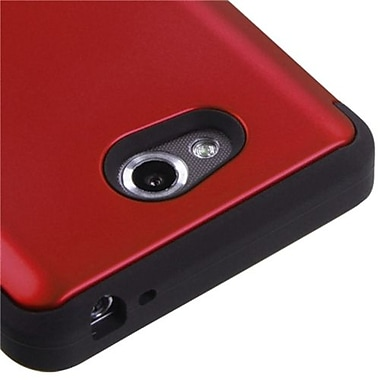Insten® TUFF Hybrid Phone Protector Cover For LG MS870 Spirit 4G, Titanium Red/Black