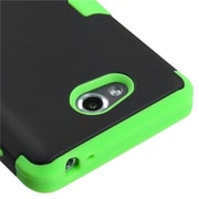 Insten® TUFF Hybrid Phone Protector Cover For LG MS870 Spirit 4G, Black/Electric Green