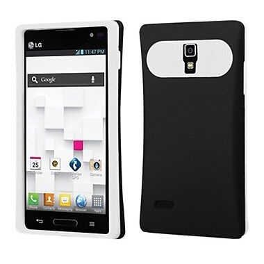 Insten® Back Protector Cover For LG P769, Black/White