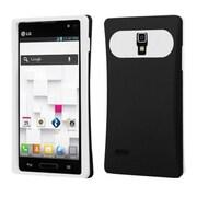 Insten® Back Protector Cover For LG P769, Black/White
