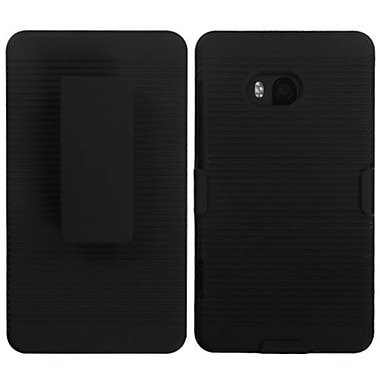 Insten® Rubberized Hybrid Holster For Nokia Lumia 810, Black