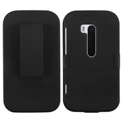 Insten® Rubberized Hybrid Holster For Nokia 822 (Lumia 822), Black