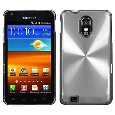 Insten® Back Protector Cover F/Samsung D710, R760, Galaxy S 2 4G, Silver Cosmo